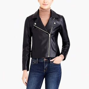 J Crew - Faux Leather Moto Jacket
